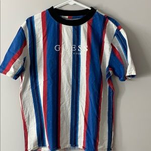 Guess Striped Logo Tee